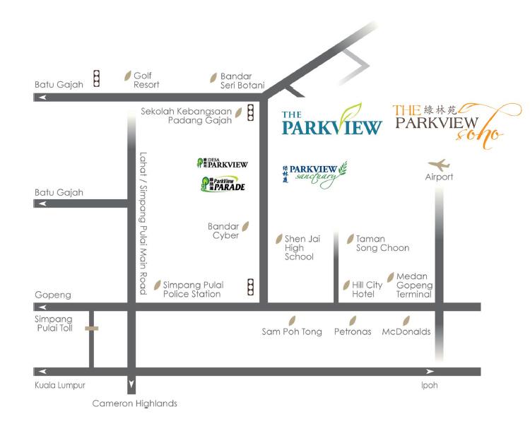Parkview SOHO location map